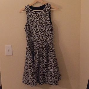 tibi leopard dress, size small